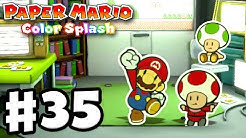 Paper Mario: Color Splash - Gameplay Walkthrough Part 35 - Green Energy Plant 100%! (Nintendo Wii U)