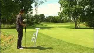 Golf Training Pitch: Pitchen aus drei Entfernungen