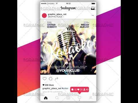 Karaoke Night - Animated Flyer PSD Template for Instagram