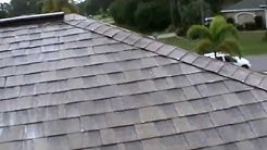 Shingled Roof Cleaning by Bergman Soft-Washing Green, Eco-Friendly, Biodegradable