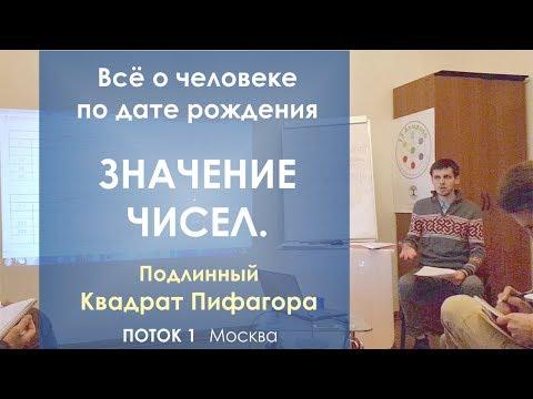 Значение чисел. Поток 1. Москва, 2018   Подлинный Квадрат Пифагора.