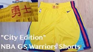 """City Edition"" Nike NBA Golden State Warriors  Shorts Review"