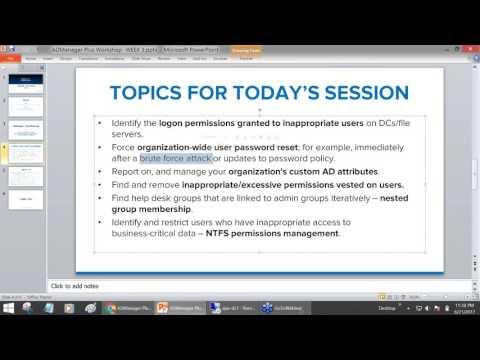 [Workshop - Week 3] Script free Active Directory reporting