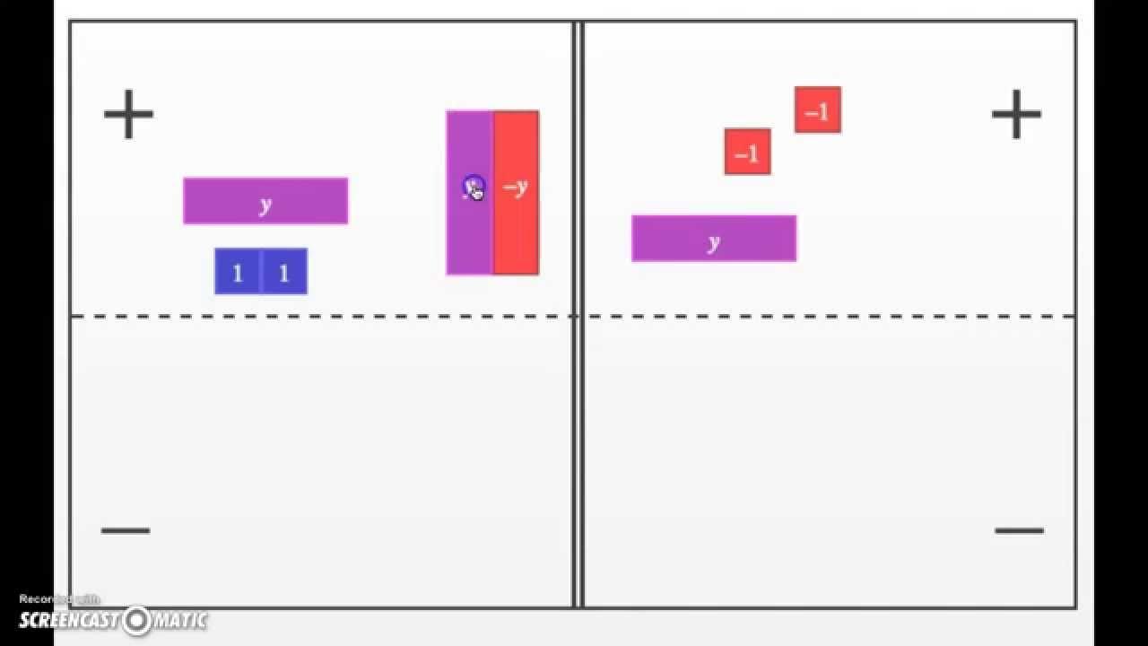 Algebra Tiles Cpm Course 3 2 81b