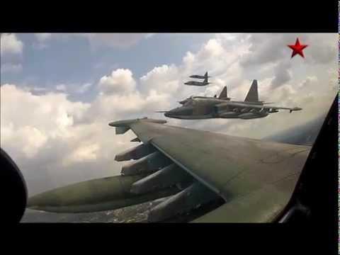 Sukhoi Su-25 in formation - GoPro Cam