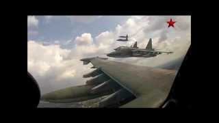 Sukhoi Su-25 in formation - GoPro Cam