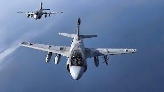 USMC EA-6B Prowlers Deactivating • VMAQ-2 Aerial Footage