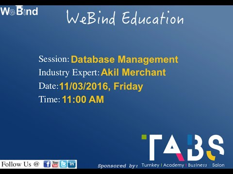 Industry Expert Session on Database Management System I WeBind