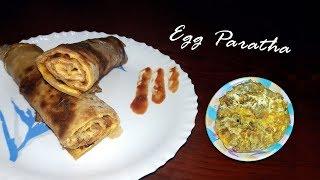 Crispy egg paratha recipe  homemade restaurant style flaky layered egg paratha roll anda paratha Egg