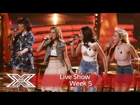 4 Of Diamonds sparkle with Wilson Phillips' Hold On | Live Shows Week 5 | The X Factor UK 2016
