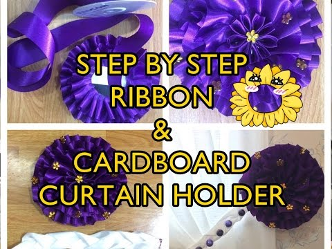 Reuse and Recycle! | D.I.Y. STEP BY STEP RIBBON AND CARDBOARD CURTAIN HOLDER DESIGN!