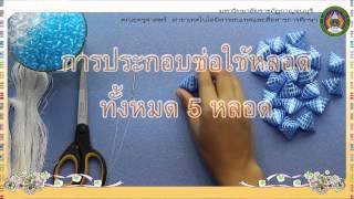 Repeat youtube video สื่อการเรียนการสอน เรื่องการทำโมบายจากหลอด