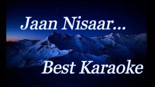 Jaan Nisaar(Kedarnath) Karaoke With Lyrics(Na Maregi Deewangi Meri)