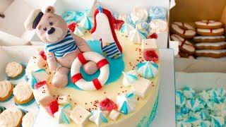 🌊Морской Candy Bar.⚓ Мишка моряк.🚢Оформление детского торта - Я - ТОРТодел!