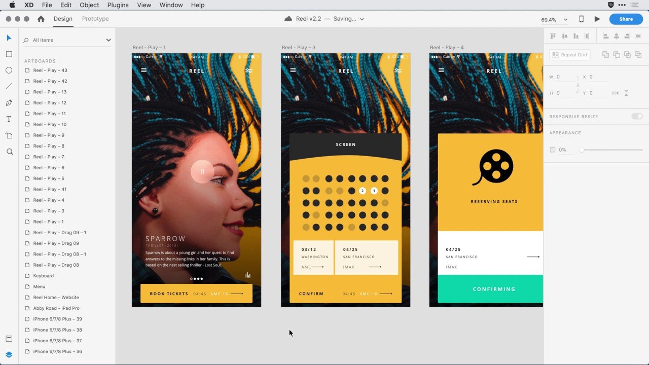 Adobe XD Release December 2018: Object Flip, Search Layers, Linked Symbols