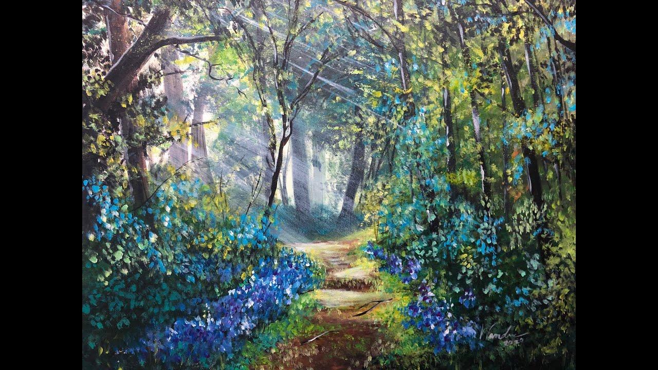Acrylic Painting | วิธีวาดป่าโดยสีอะคริลิค