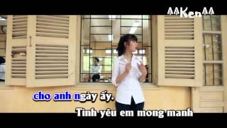 [Karaoke] Ngây ngô - Hoàng Yến Chibi (tone nam) [Beat phối]