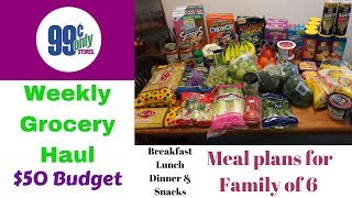 99 Cent Store Grocery Haul $50 Budget