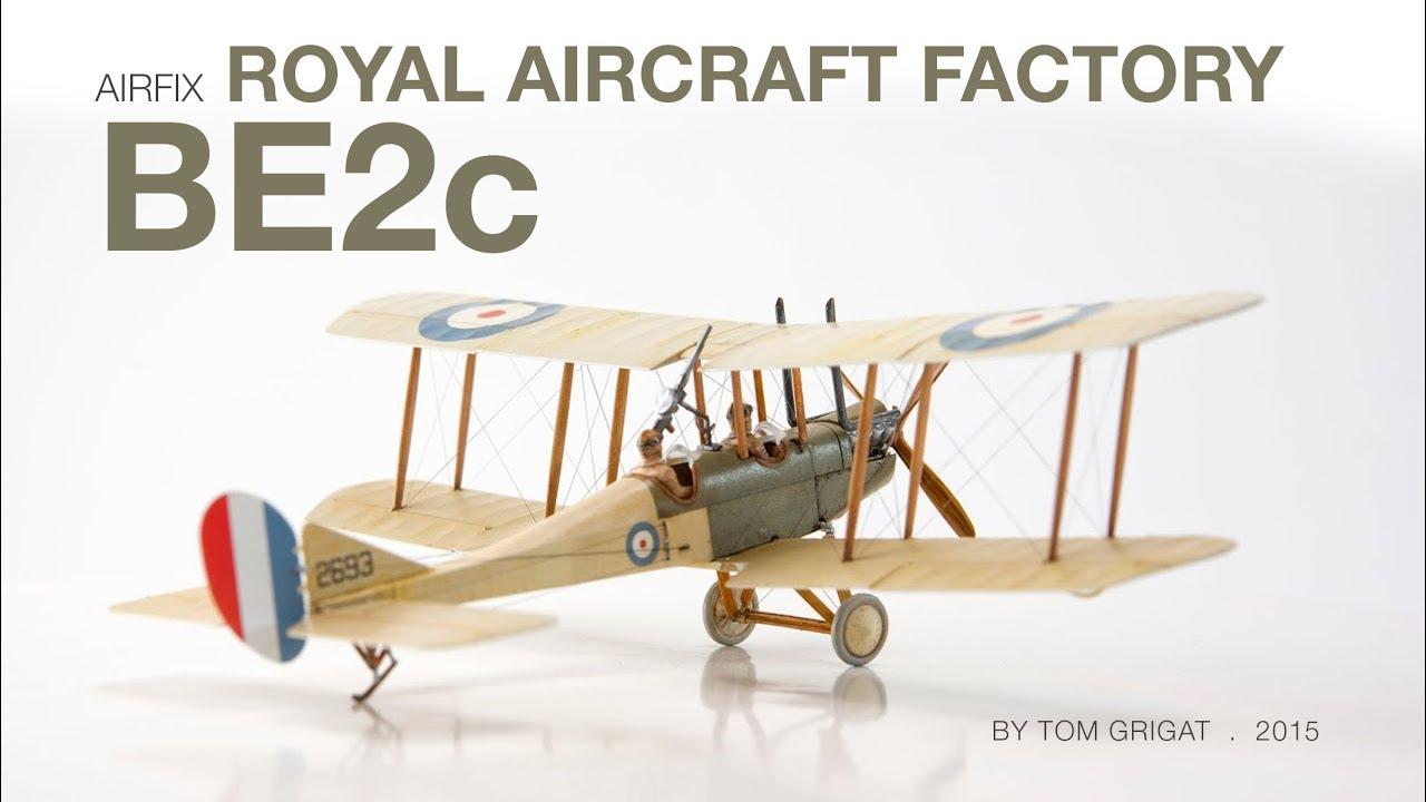 AIRFIX 1:72 scale Royal Aircraft Factory BE2C modèle d/'avion kit WW1 A02101