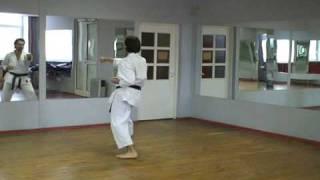 Karate kata Taikyoku shodan