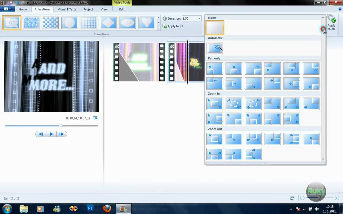 Quick Tutorial: Windows Live Movie Maker 2011 - YouTube