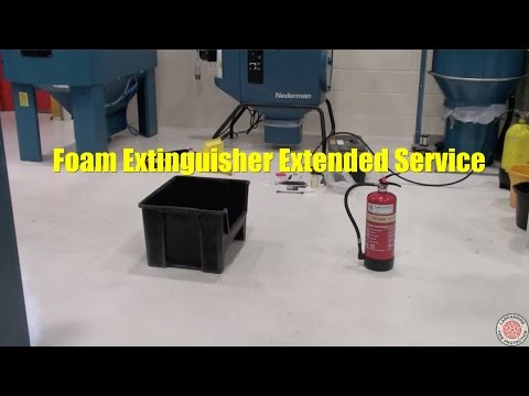 Foam Fire Extinguisher Extended Service - Lancashire Fire Protection