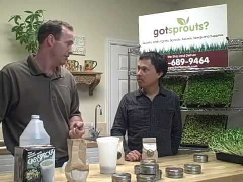 How to grow sprouts any time of the year with GotSprouts.com, Sean Herbert and John Kohler