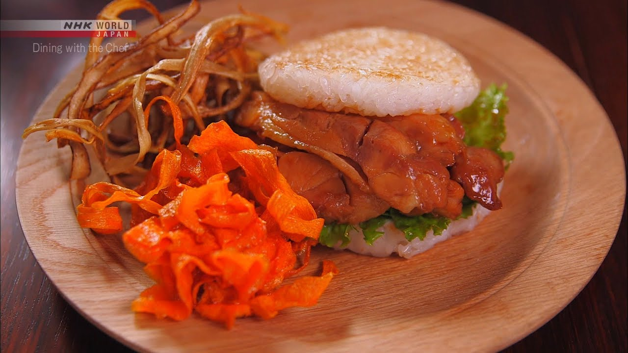 Photo of Chef Rika's Chicken Rice Burger [Japanese Cooking] – Dining with the Chef – video