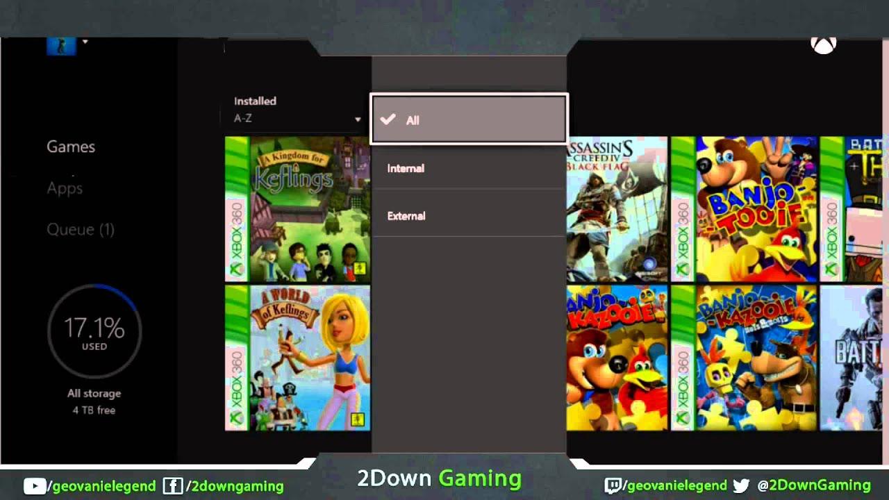 Xbox 1 Games List : Xbox one organize games list youtube