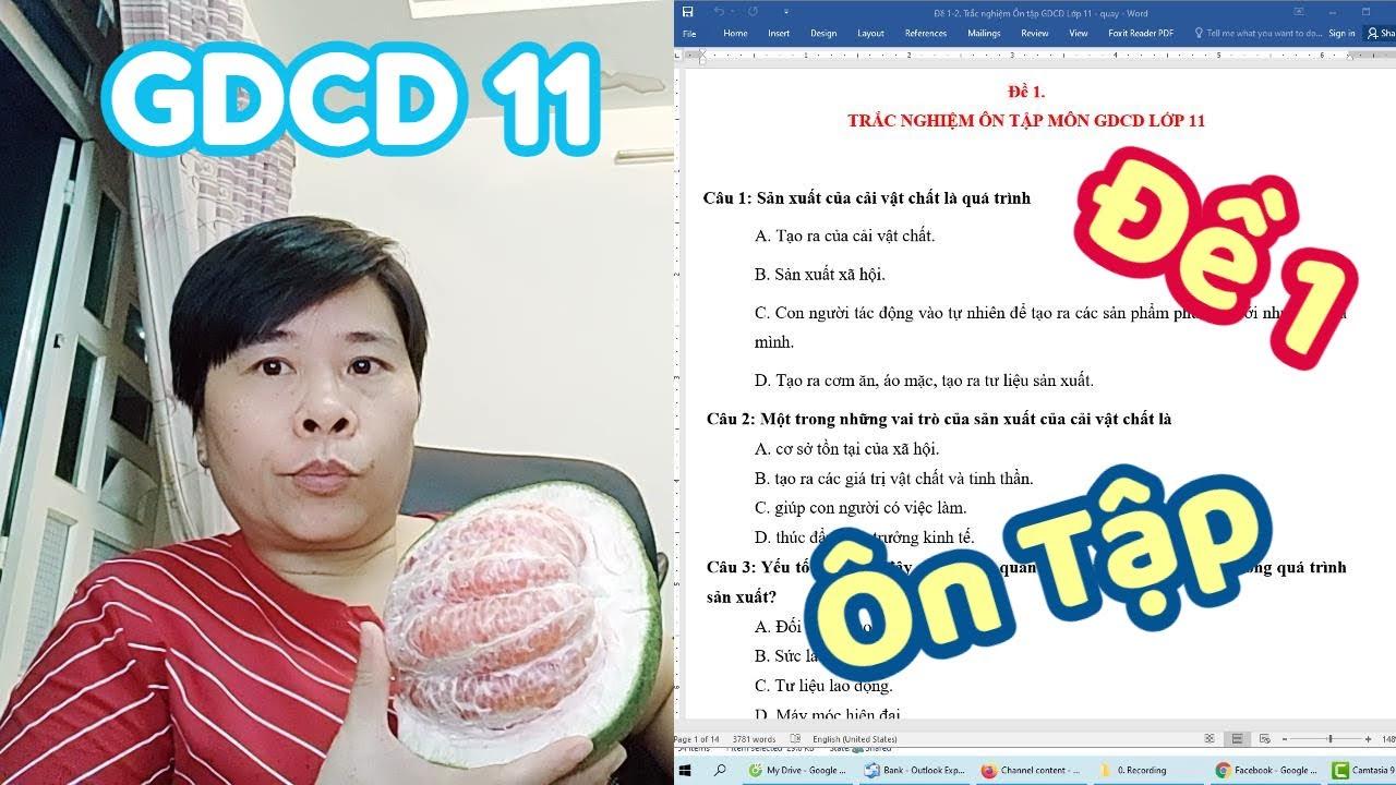 Ôn tập môn Giáo Dục Công Dân Lớp 11 – GDCD 11 – Đề 1