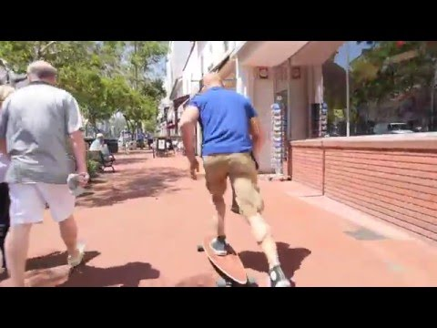 Полиция против! Заезд на лонгборде по Санта-Барбаре