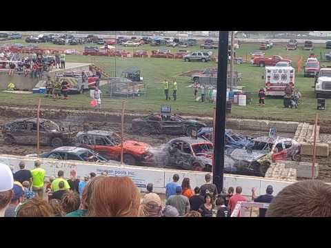 Dodge County Fair Demo Derby #3