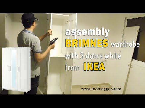 Ikea Guardaroba Aspelund.Assembly Brimnes Wardrobe With 3 Doors White From Ikea Th3