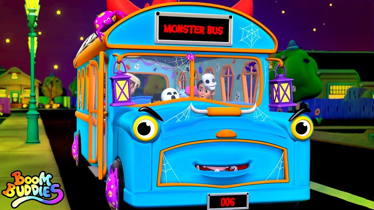 Halloween Bus   Wheels On The Bus   Spooky Nursery Rhymes for Children   Halloween Songs by Kids Tv