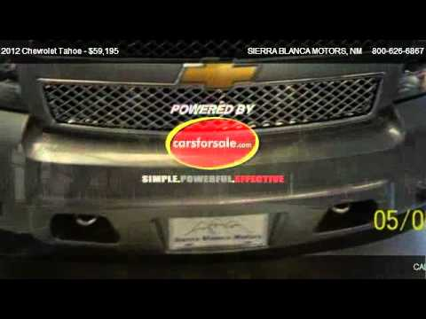 2012 Chevrolet Tahoe Ltz For Sale In Ruidoso Nm 88355