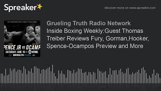 Inside Boxing Weekly:Guest Thomas Treiber Reviews Fury, Gorman,Hooker, Spence-Ocampos Preview and Mo