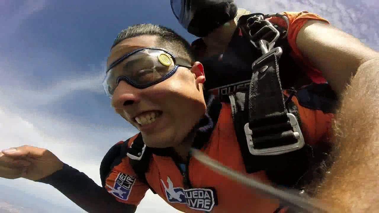 Salto de Paraquedas do Leonardo na Queda Livre Paraquedismo 29 01 2017