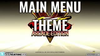 SFV: ARCADE EDITION - Main Menu Theme (full version)
