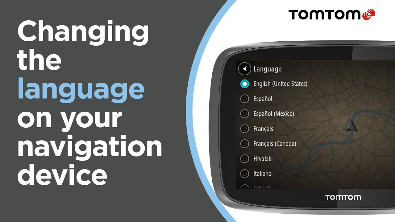 How to change the language on your navigation device