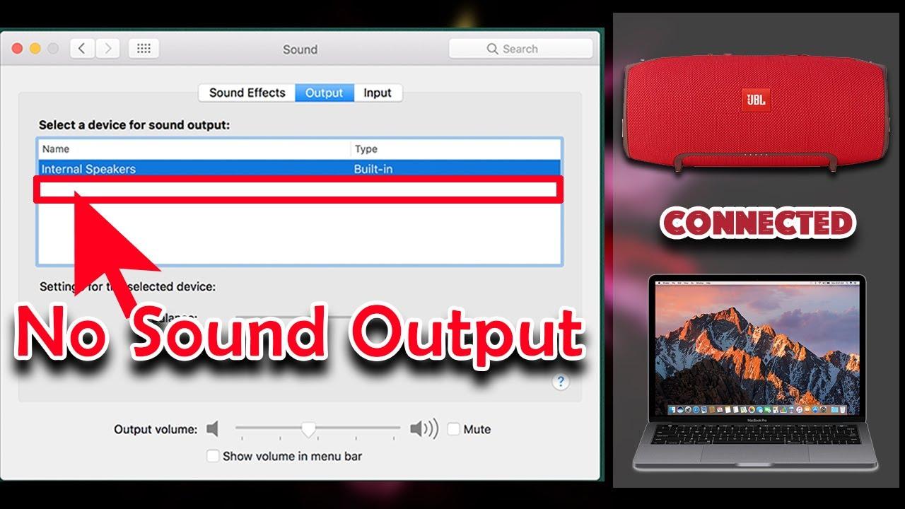 JBL Speaker has no sound from MacBook solved
