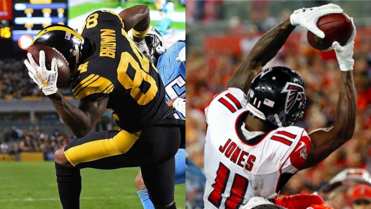 Must See Antonio Brown Vs Julio Jones The Most Insane Catch You Will Ever See 3 World Records