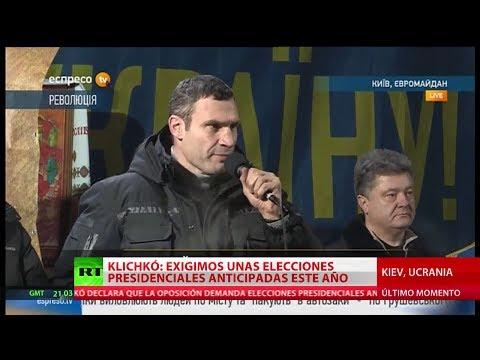 RT en Ucrania: La oposición ucraniana rechaza la propuesta de Yanukóvich y exige elecciones