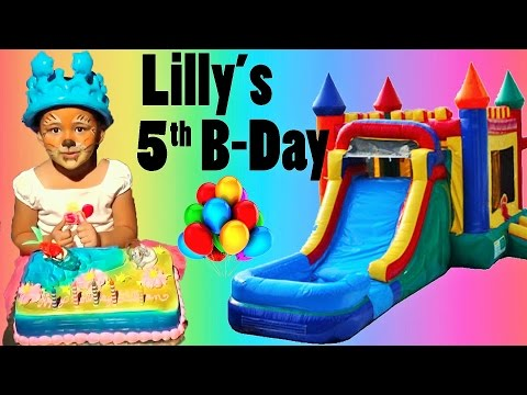 Lilly's 5th Birthday Party! Indoor Playground Fun Video for Kids