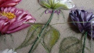 Вышивка атласными лентами красивых цветов