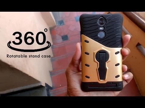 buy popular 72410 ecbde Sniper 360 degree rotatable stand case for lenovo vibe k5 note-Unboxing &  Review!