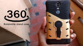 Sniper 360 degree rotatable stand case for lenovo vibe k5 note-Unboxing amp Review