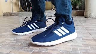 Sepatu Adidas Neo Cloudfoam Lite Racer Premium Original Casual Running Sport Pria Dewasa Biru Navy