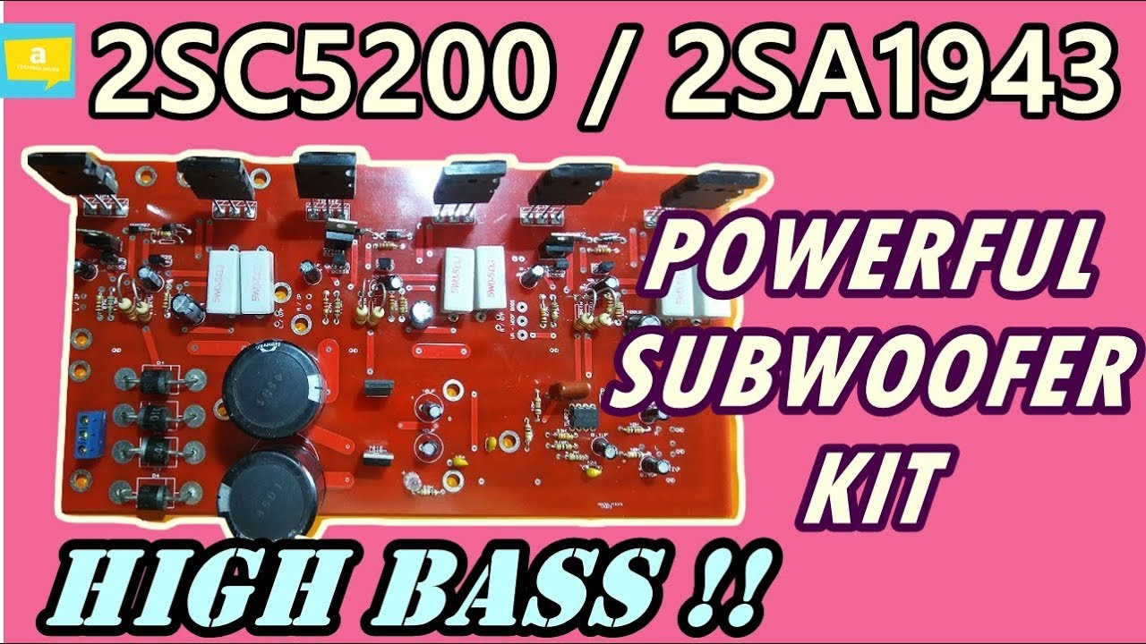 2SC5200 & 2SA1943 based HIGH POWER OP AMP subwoofer amplifier kit