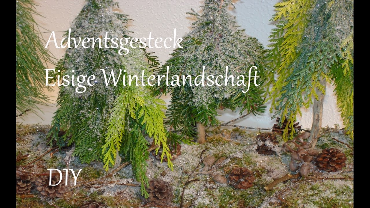diy adventsgesteck aus naturmaterialien eisige winterlandschaft just deko youtube. Black Bedroom Furniture Sets. Home Design Ideas