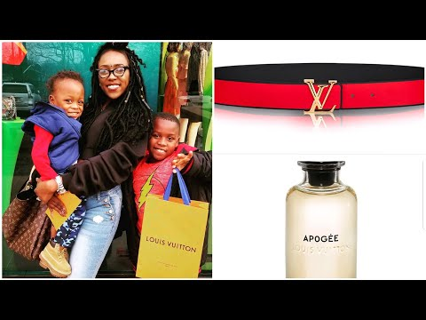 Luxury Shopping with KIDS for LOUIS VUITTON Belt & Aphogee Perfume 100ml [Fashion haul Vlog]